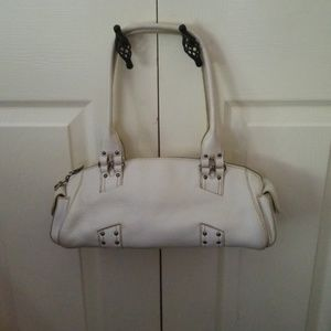COLE HAAN Off-White Leather Shoulder Bag & Wallet